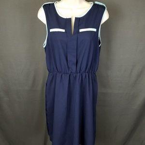 3 for $10- Large navy Sheath dress